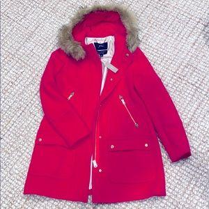 J Crew Chateau Parka 0 XS Italian wool coat jacket